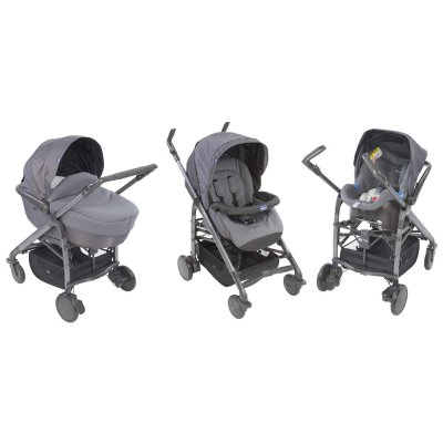 Pack poussette trio love silver Chicco