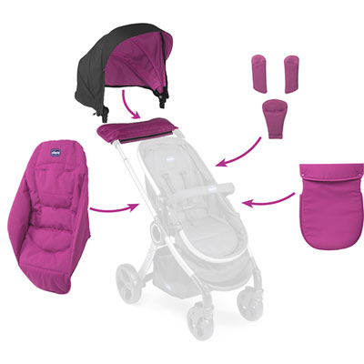 Pack coloris pour la poussette urban hiver aurora Chicco