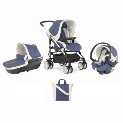 Pack poussette trio mycity blue Chicco