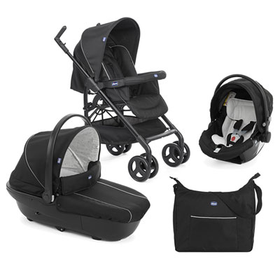 Pack poussette trio sprint black night Chicco