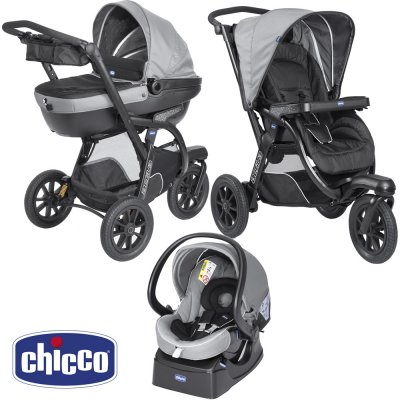 Pack poussette trio activ3 top dark grey Chicco