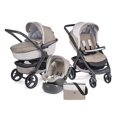 Pack poussette trio stylego truffles Chicco