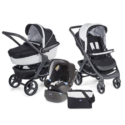 Pack poussette trio stylego black night Chicco