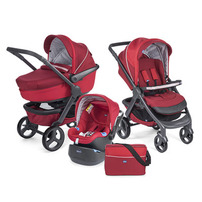 Pack poussette trio stylego red passion Chicco
