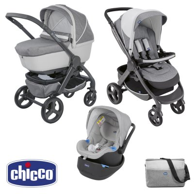 Pack poussette trio stylego up elegance Chicco