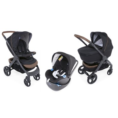 Pack poussette trio stylego up oasys bebecare pure black Chicco