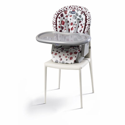 Chaise haute bébé polly progres5 cherry Chicco