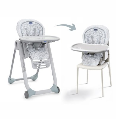 Chaise haute bébé polly progres5 sage Chicco