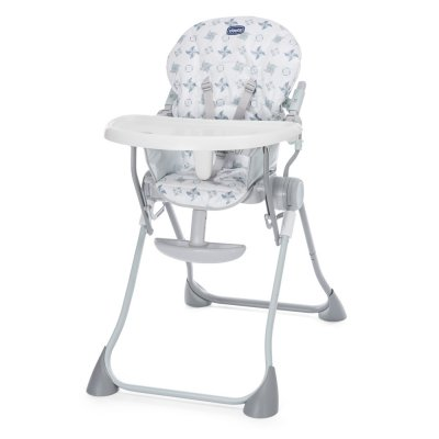 Chaise haute bébé pocket meal light grey Chicco