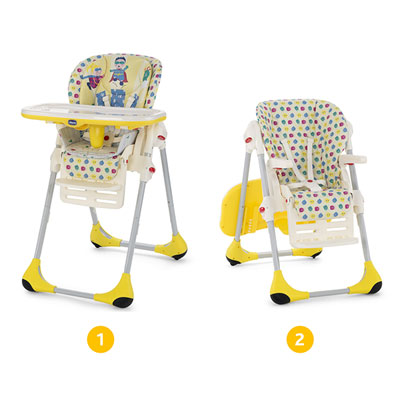 Chaise haute bébé polly 2 en 1 energy Chicco
