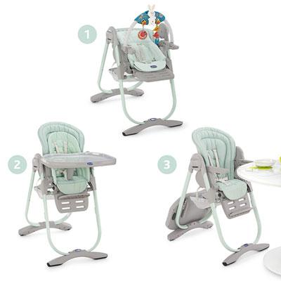 Chaise haute bébé polly magic aquarelle Chicco