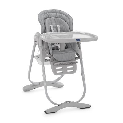 Chaise haute bébé polly magic light grey Chicco
