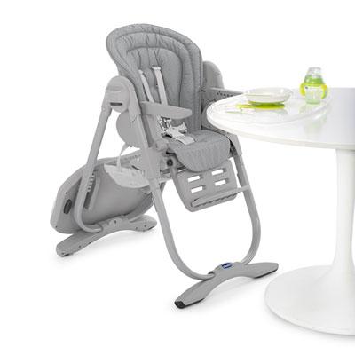 Chaise haute bébé polly magic light grey Chicco