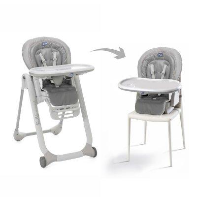 Chaise haute bébé polly progres5 stone Chicco