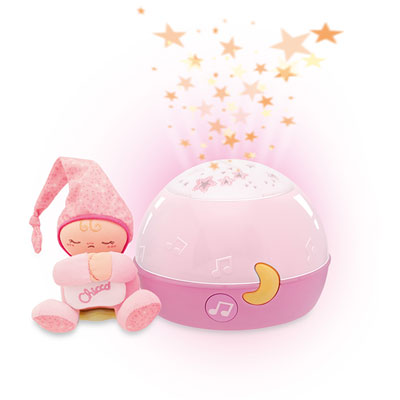 Veilleuse lampe magic projection rose Chicco