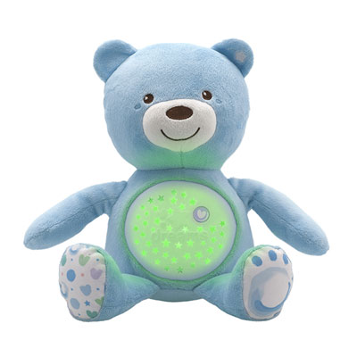 Veilleuse peluche ourson projecteur first dream bleue Chicco