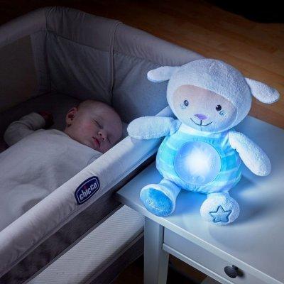 Peluche musicale mouton tendres mots doux bleu first dream Chicco