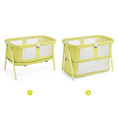 Berceau bébé lullago zip lemon drop Chicco