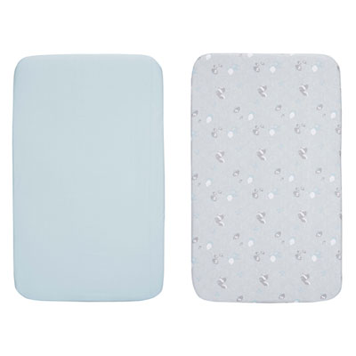 Lot de 2 draps housse next 2 me sky Chicco