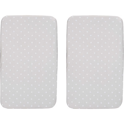 Lot de 2 draps housse next 2 me silver Chicco