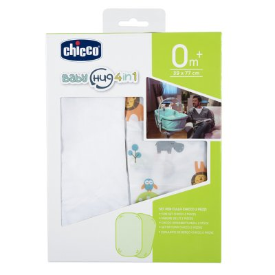 Lot de 2 draps housse baby hug 4 in 1 little animals Chicco