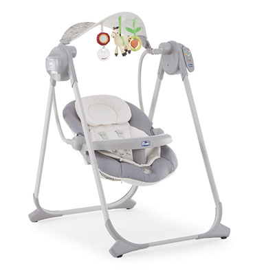 Balancelle bébé polly swing up silver Chicco