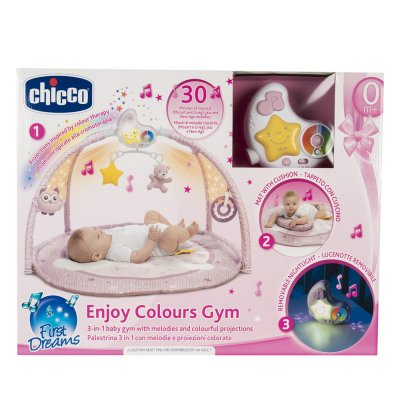 Tapis d'éveil bébé colors gym rose Chicco