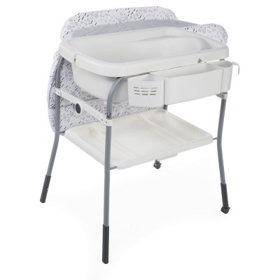 Table à langer avec baignoire cuddle & bubble cool grey Chicco