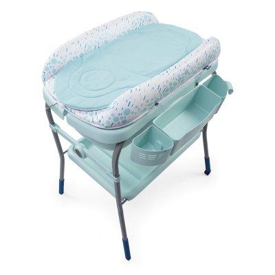 Table à langer avec baignoire cuddle & bubble dusty green Chicco
