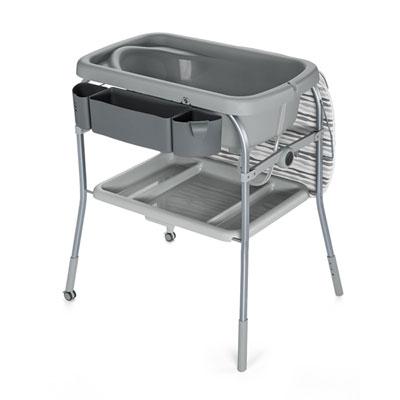 Table à langer avec la baignoire cuddle & bubble comfort silver Chicco