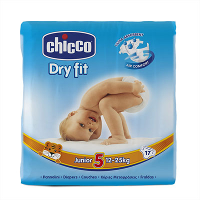 Couches dry fit junior taille 5 12-25 kg Chicco