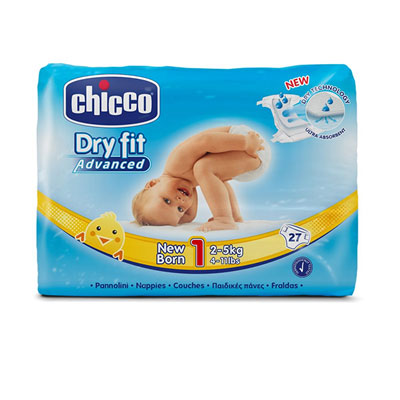Couches dry fit advanced taille 1 newborn 2-5 kg Chicco