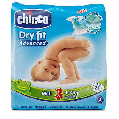 Couches dry fit advanced taille 3 midi 4-9 kg Chicco