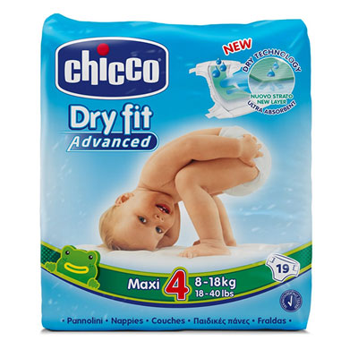 Couches dry fit advanced taille 4 maxi 8-18 kg Chicco
