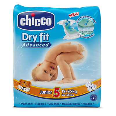 Couches dry fit advanced taille 5 junior 12-25 kg Chicco