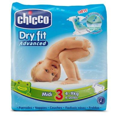 Carton de 210 couches t3 dry fit advanced 4/9 kg Chicco