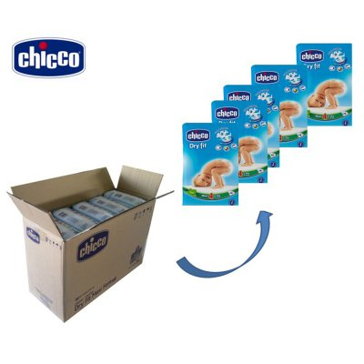 Carton de 190 couches t4 dry fit advanced 8/18 kg Chicco