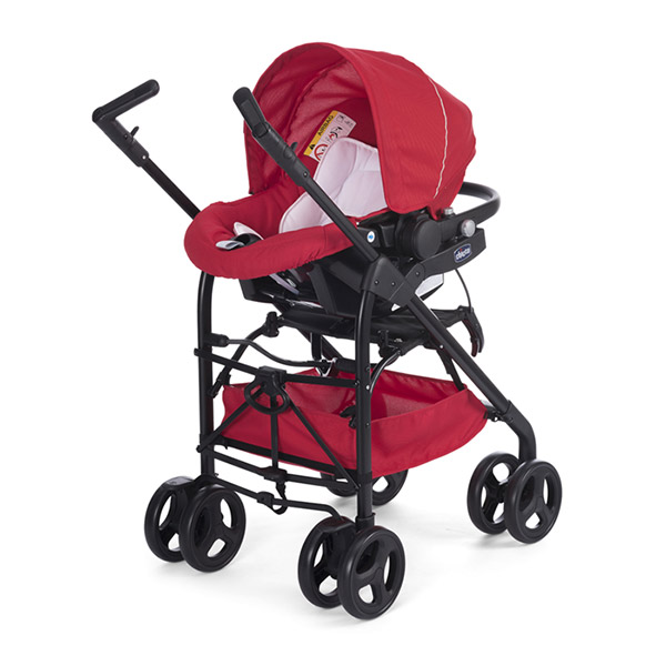 Poussette combiné trio sprint black red passion Chicco