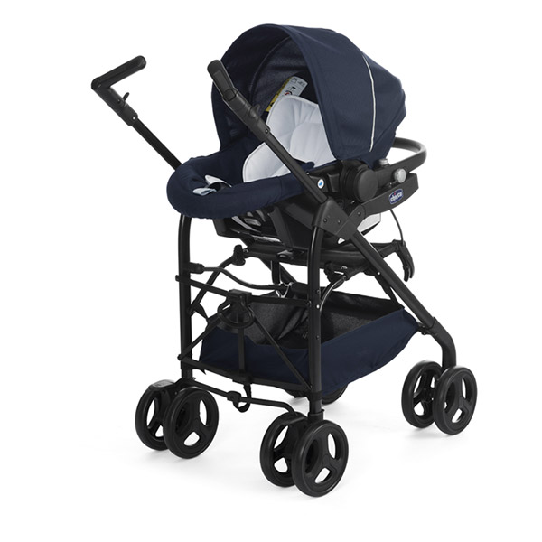 Poussette combiné trio sprint black blue passion Chicco
