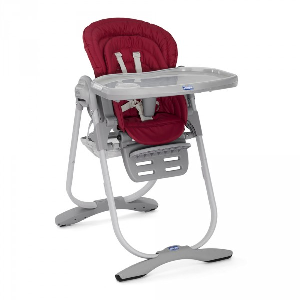 Chaise haute bébé polly magic bordeaux Chicco