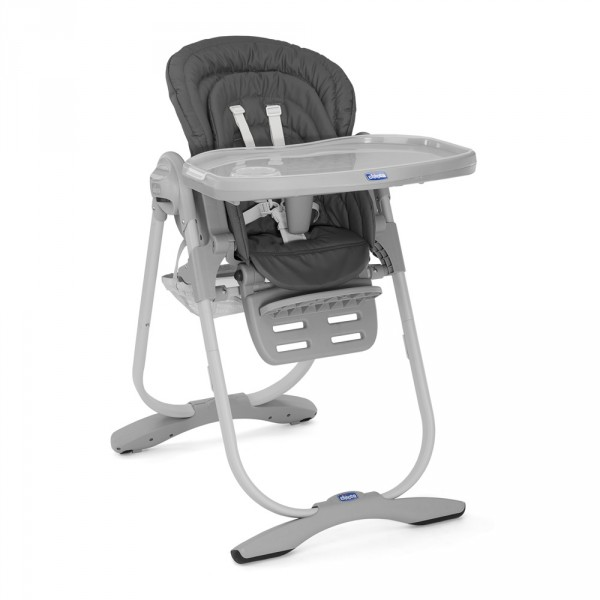 Chaise haute bébé polly magic dark grey Chicco