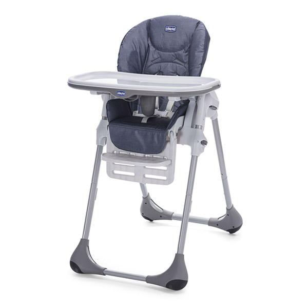 Chaise haute bébé polly easy denim Chicco