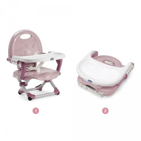 Réhausseur de chaise pocket snack rose Chicco