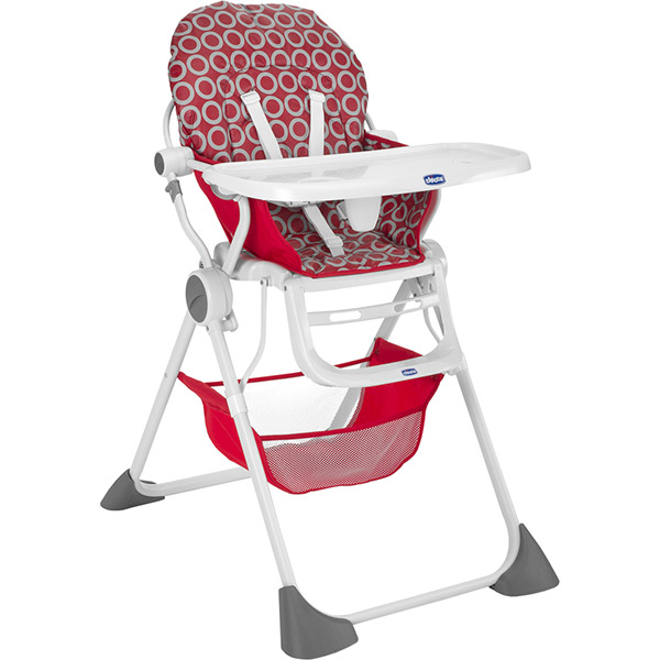 Chaise haute pocket lunch red wave Chicco