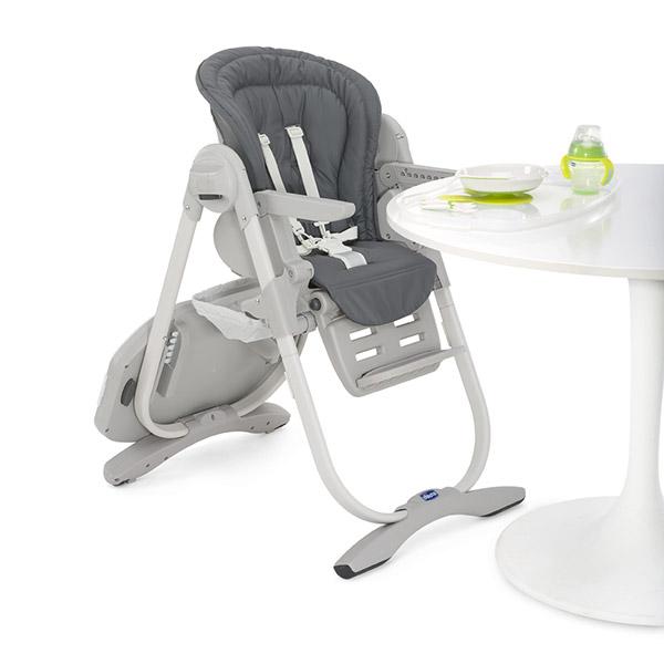 Chaise haute bébé polly magic graphite Chicco