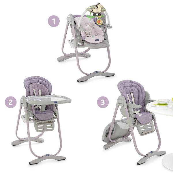 chaise haute polly magic chicco prix le moins cher avec parentmalins. Black Bedroom Furniture Sets. Home Design Ideas