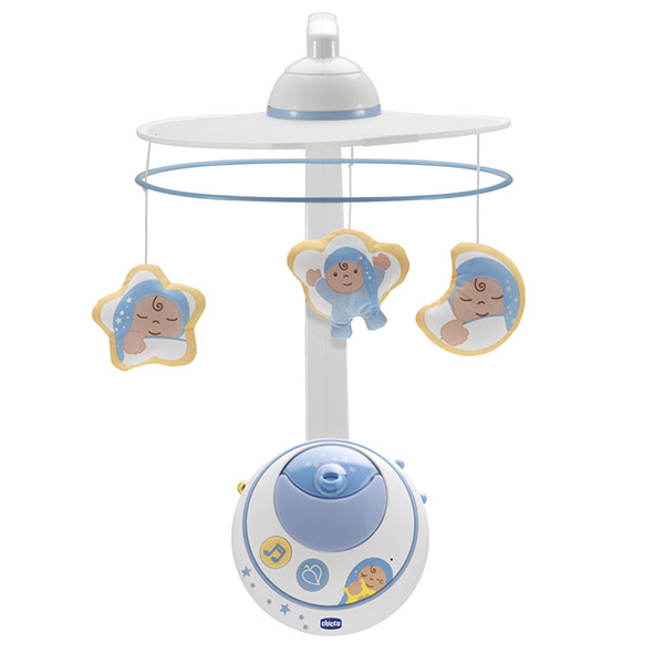 Mobile bébé double projection bleu first dreams Chicco