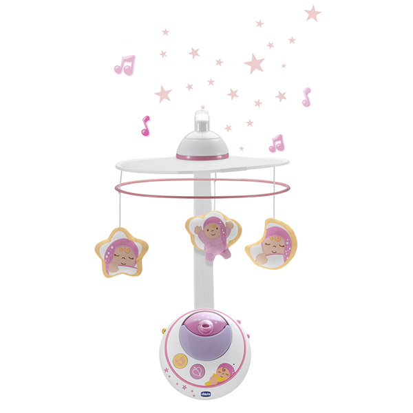 Mobile bébé double projection rose first dreams Chicco