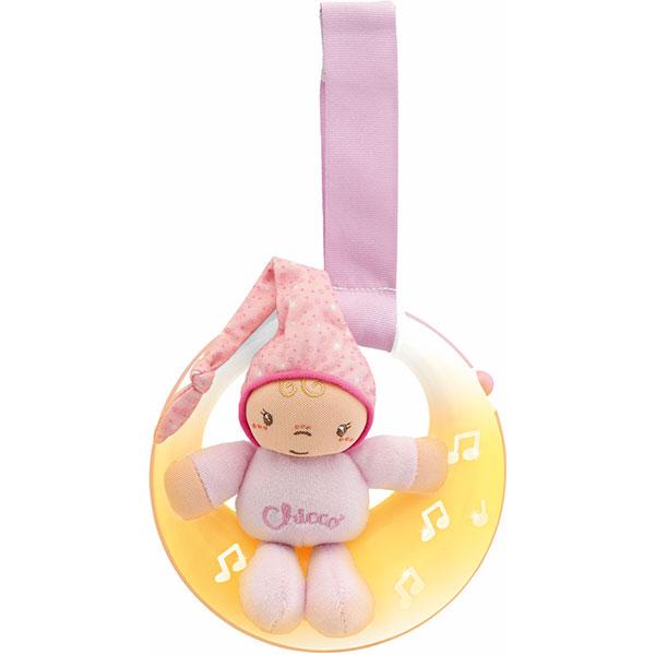 Veilleuse bébé musicale petite lune rose first dreams Chicco