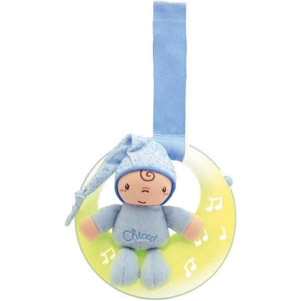 Veilleuse bébé musicale petite lune bleu first dreams Chicco